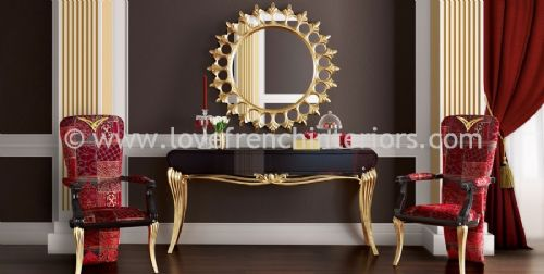 Spacium Mirror, Console Table and Chairs